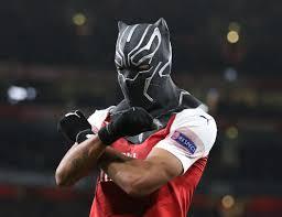 Aubameyang reveals Black Panther mask ...