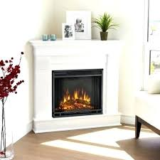 electric fireplace white corner