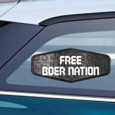 Amazon Com Makoroni Free Boer Nation South Africa South African Car Magnet Magnetic Bumper Sticker 3 5x8 Or 4 5x10 Inc Automotive