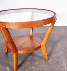 round light oak side table by kropacek