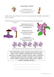 english esl haiku worksheets most