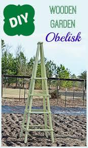 diy wooden garden obelisk