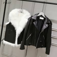 women white faux fur vest black faux