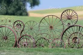Wagon Wheel Fence Stock Photo Download Image Now Istock