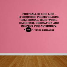 Wall Decal Quote Football Is Like Life Decals Boys Room Sports Decor Lettering Dp113 Walmart Com Walmart Com