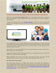 green carpet cleaning pany offers