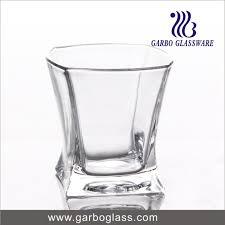 heavy base cut glass whisky tumblers