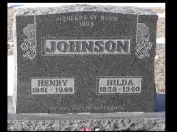 Hilda Johnson (Nyberg) (1858 - 1940) - Genealogy