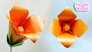 origami lily flower paper lily