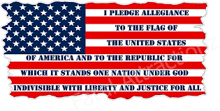 Large I Pledge Allegiance To The Flag America Decal Sticker Vinyl Window Truck Collectibles Automobilia Collectibles