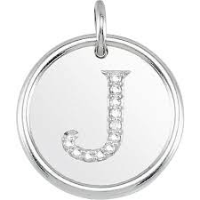 carinagems gold initial pendant with