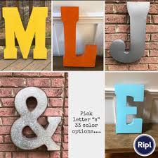 extra large metal letters pick