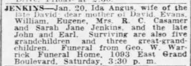 Obituary for Ida JENKINS - Newspapers.com