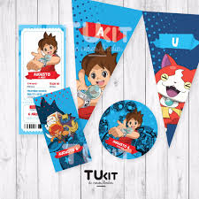 Kit Imprimible Yo Kai Watch Candy Bar 180 00 En Mercado Libre