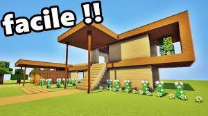 minecraft tuto maison en bois facile à