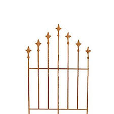 rose mesh decorative fence metal rusty