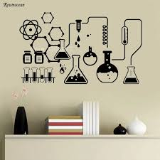 Science Chemical Lab Vinyl Wall Stickers Kids Scientist Chemistry School Sticker Removable Wall Decals Home Decor Reading Room Wall Sticker Kids Removable Wall Decalswall Decals Aliexpress
