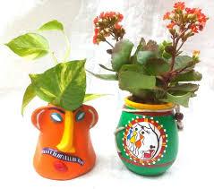 terracotta table top pot with indoor