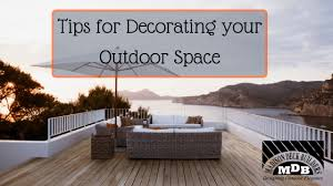 tips for decorating your outdoor space