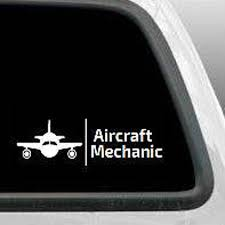 Aircraft Mechanic Decal Airplane Decals Gift Car Window Laptop Etsy