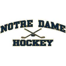 Hockey Decal University Of Notre Dame Hockey Decals Notre Dame Hockey