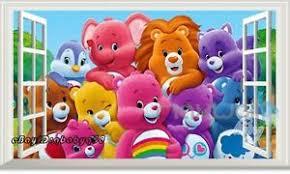Care Bear Family 3d Window Wall Decals Art Removable Stickers Kids Nursery Decor Ebay