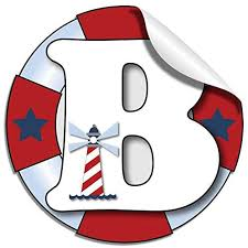 Amazon Com Removable Vinyl Letters Stickers Wall Name Decals Custom Boy S Personalized Initial Baby Nursery Kid S Room Decor Playroom Bedroom Home Alphabet Peel Stick Decal Boat Whale Anchor Letter B Nautical Home