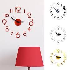 Creative Round Diy Mirror Wall Clock Stickers Home Decor Buy At A Low Prices On Joom E Commerce Platform