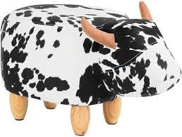 How Awesome Is This Big Fun Club Demmy Kids Stool Black White Cow Stool Kidsroom Cow Blackandwhite Ad Kids Stool Kids Room Childrens Bedroom Decor
