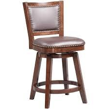faux leather swivel bar stool