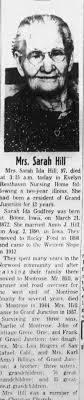 Obituary for Sarah Ida Hill (Aged 97) - Newspapers.com