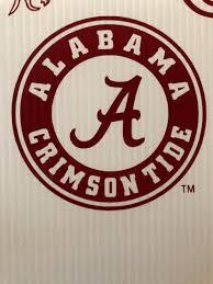 Alabama Crimson Tide Circle Window Decal Etsy