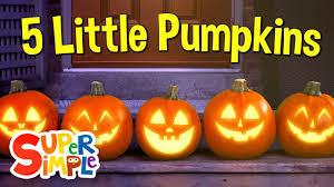 Five Little Pumpkins Pumpkin Song Super Simple Songs Youtube