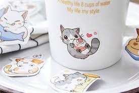 Little Chibi Cat Stickers Kawaii Pen Shop