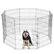 8 Panel Portable Folding Dog Animal Pet Playpen Metal Black Wire Fence Dog Exercise Yard Popup Kennel Crate Tent Cage Us Stock Houses Kennels Pens Aliexpress