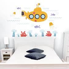 Submarine Under The Sea Underwater Scene Printed Wall Decals Stickers Graphics