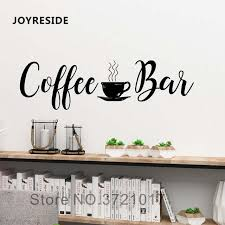 joyreside coffee bar quotes wall decal kitchen home wall decor