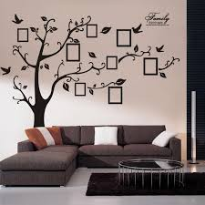 Wall Decal Sticker Removable Photo Frame Tree Bird With Family Quote Dear Deer Fashion