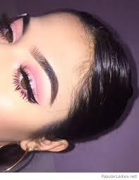 amazing pink eye makeup for brown eyes