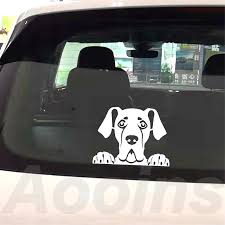 Peeking Great Dane Decal Personalized Vinyl Car Sticker Pet Dog Great Dane Silhouette Removable Decals Car Window Laptop Decor Wall Stickers Aliexpress