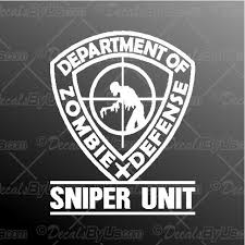 Save Now On Zombie Sniper Unit Truck And Car Stickers