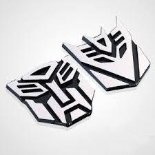 3d Transformers Autobot Metal Logo Badge Emblem Style Cool Funny Car Decal Or Sticker Julia L Collinser