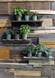 garden wall shelves reclaimed wood