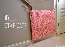 How To Make A Diy Baby Gate Using Fabric The Diy Playbook