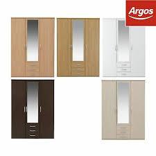 3 drawer mirrored wardrobe