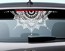 Mandala Car Decal Etsy