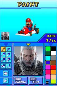 I Drew Geralt In Mario Kart Ds Decal Maker Gamingcirclejerk