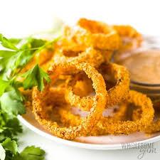 air fryer keto onion rings recipe