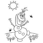 Kleurplaat Frozen Olaf Disney 3932