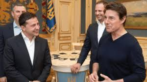 Ukraine President TROLLED For Making Tom Cruise 'Look Tall' During ...